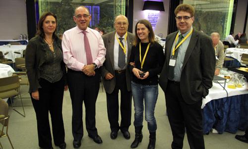 Manuela García (secretaria del Comib), Juan José Rodríguez Sendín (presidente de la OMC), Maria del Mar Adrover (vocal de Médicos Jubilados y vicesecretaria del Comib) junto al presidente del Comib, Antoni Bennasar.