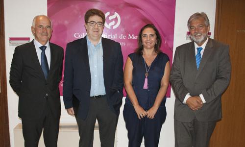 El subdirector general del Banc Sabadell visita el Col·legi de Metges