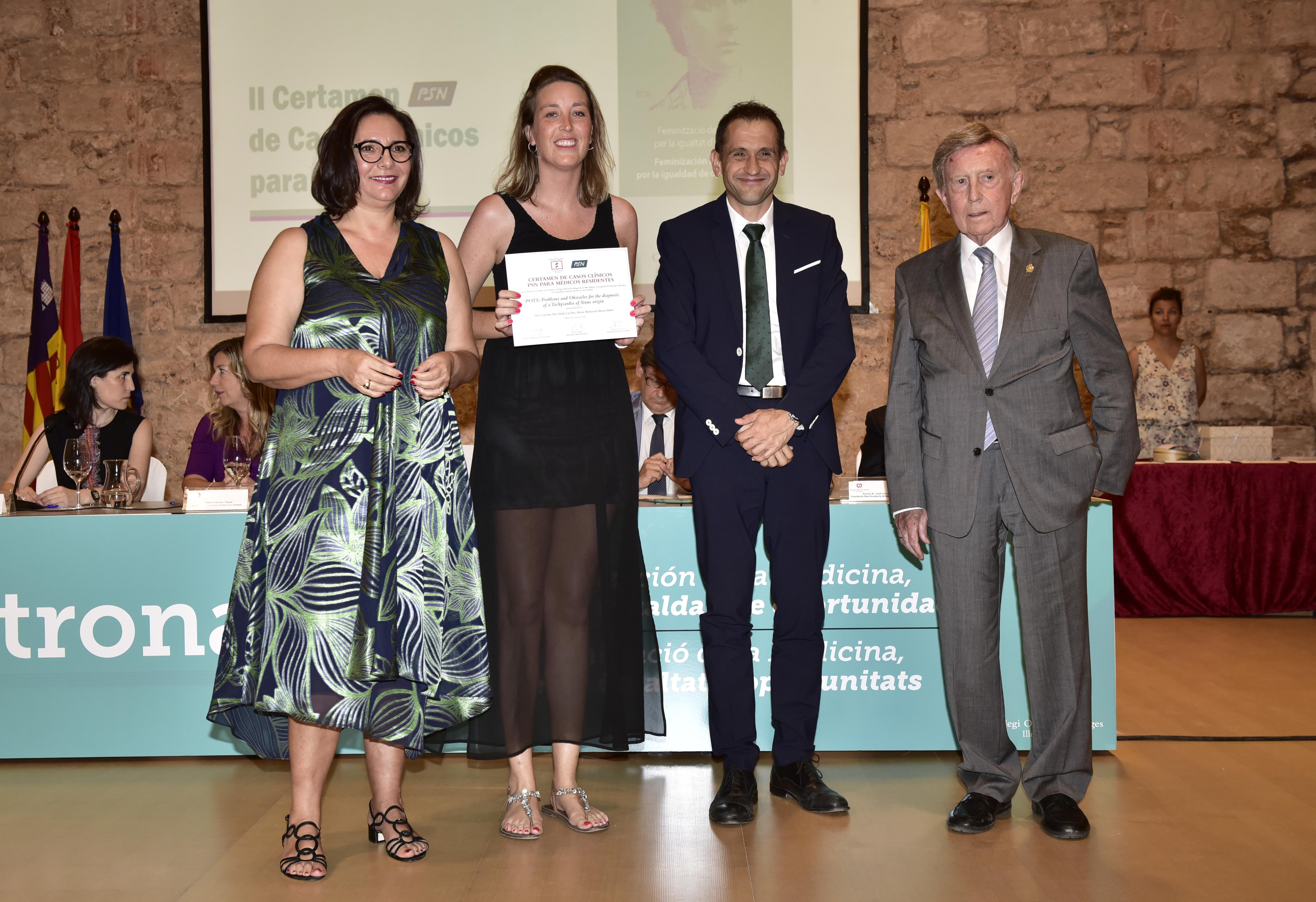 La Dra. Caterina Mas Lladó recoge el premio