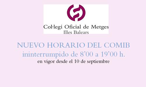 Inicialmente, este cambio únicamente afecta a la sede de Palma. Eivissa y Menorca continúan con su horario habitual
