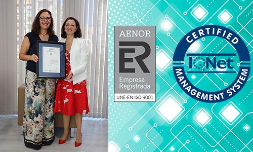 AENOR concede la recertificación de calidad ISO 9001:2015 al Col·legi de Metges