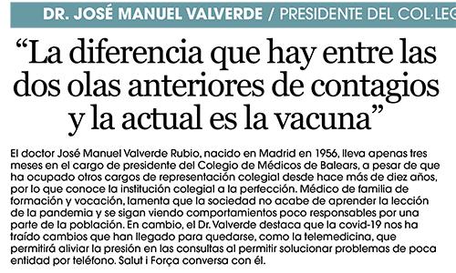 Entrevista del Salut i Força al Dr. José Manuel Valverde